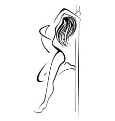 Pole dancing vector image vector image