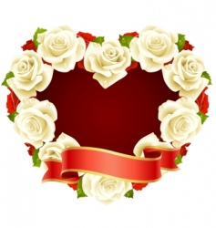 rose frame vector image vector image