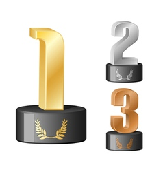 trophy numbers vector image vector image