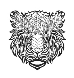 Zentangle stylized tiger head Sketch for tattoo vector image
