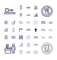 37 airport icons vector