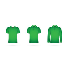 a green t-shirt vector image