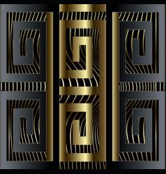 abstract luxury 3d greek key meander border vector image