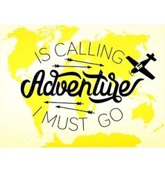 adventure lettering vector image