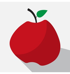 apple and long shadow vector image