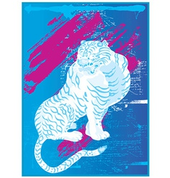 Artistic tiger design vector image