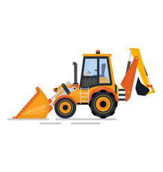 backhoe transport tractor construction vector image