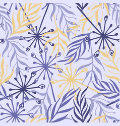 beautiful seamless pattern with floral vector image