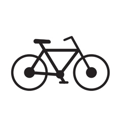 Bicycle transport sport recreational pictograph vector