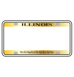Blank illinois state license plate vector
