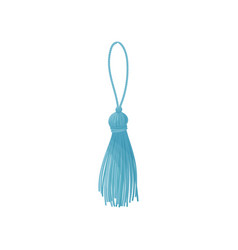 Blue tassel from threads on vector