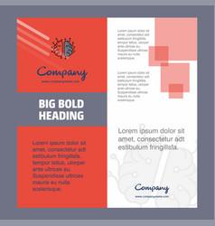 brain processor company brochure title page vector image