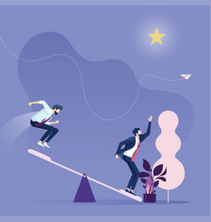 Business career growth vector