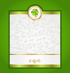 Card with trefoil for Saint Patrick day vector image