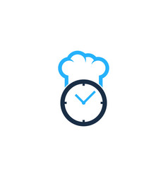chef time logo icon design vector image