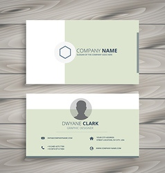 clean business card vector image