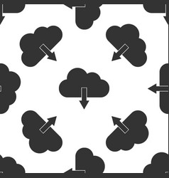 cloud download isolated icon seamless pattern vector image
