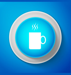 coffee cup flat icon tea cup hot drink coffee vector image