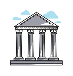columns of historic temple vector image