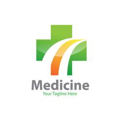 cross medicine logo designs vector image
