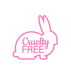 Cruelty free pink banner vegan emblem packaging vector