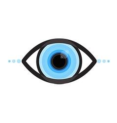 Cyber eye vector