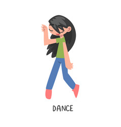 Dance word verb expressing action vector
