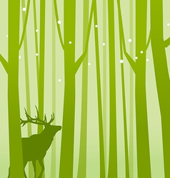 Deer in Forest Green vector