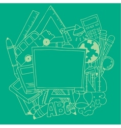 Design school tools doodle art vector