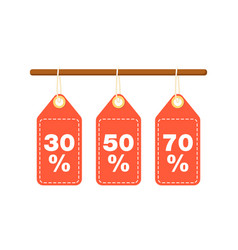 Discount tags for best sale proposition vector