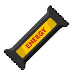 energy bar icon flat style vector image