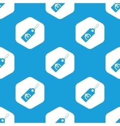 Euro price hexagon pattern vector