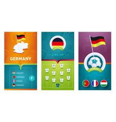 European 2020 football vertical banner set vector