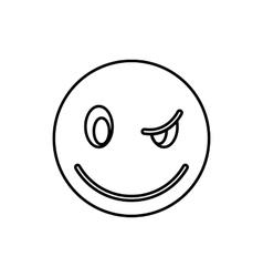 Eyewink emoticon icon outline style vector image