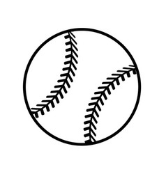 figure ball to play baseballl icon vector image