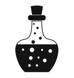 flask potion icon simple style vector image