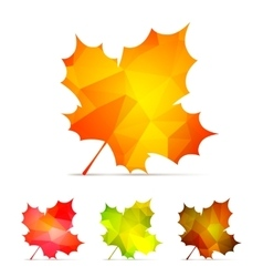 Geometric Autumn Leaves vector