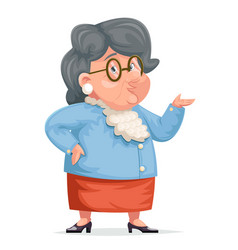 Grandmother talking wise old woman granny vector