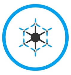 Hexacopter Rounded Icon vector