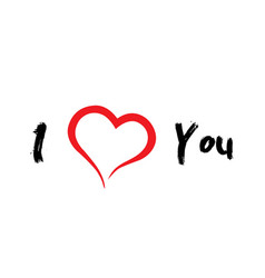 I love you icon with a heart vector