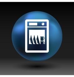 icon dishwasher dishe washer kitchen clean vector image