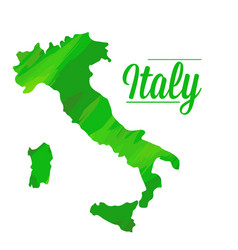 isolated italian map vector image