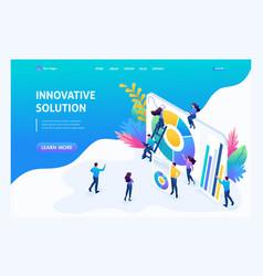 isometric entrepreneurs marketing research vector image