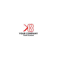k and b logo design vector image