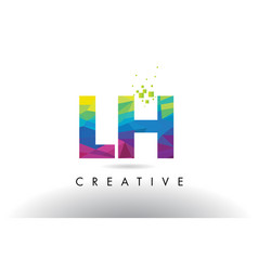 Lh l h colorful letter origami triangles design vector