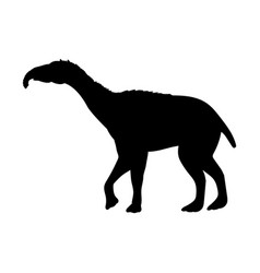 Litopterna silhouette extinct mammalian animal vector