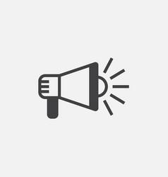 loudspeaker flat icon vector image