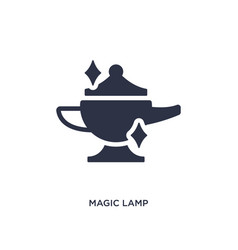Magic lamp icon on white background simple vector