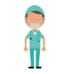 Male surgeon medical professional vector