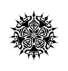 mandala geometry black one vector image